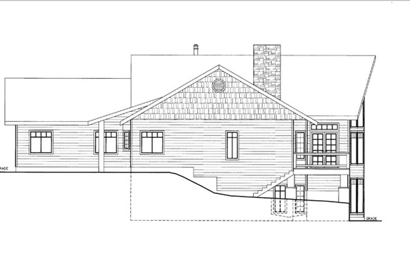 Ranch Exterior - Other Elevation Plan #117-838 - Houseplans.com