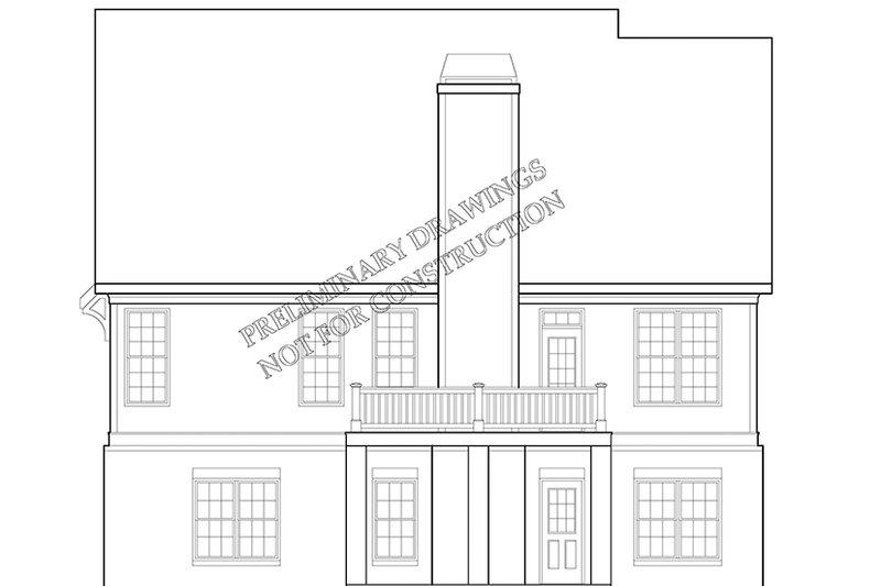 European Exterior - Rear Elevation Plan #927-967 - Houseplans.com