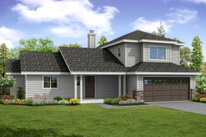 Architectural House Design - Traditional Exterior - Front Elevation Plan #124-1041