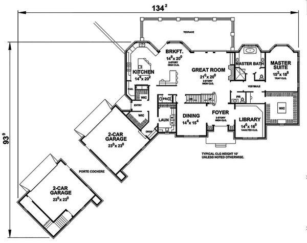 European Floor Plan - Main Floor Plan Plan #20-2379