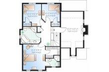 European Floor Plan - Upper Floor Plan Plan #23-800