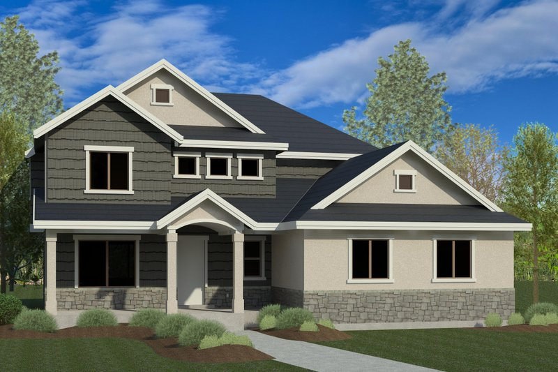 Dream House Plan - Traditional Exterior - Front Elevation Plan #920-27