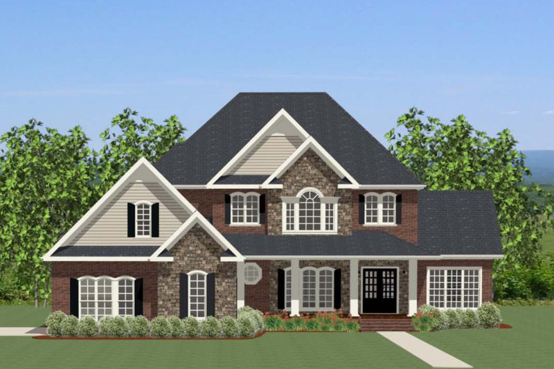 Traditional Exterior - Front Elevation Plan #898-32