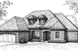 European Exterior - Front Elevation Plan #310-186