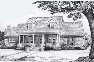 Traditional Exterior - Front Elevation Plan #310-829