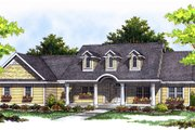Country Style House Plan - 3 Beds 2.5 Baths 1781 Sq/Ft Plan #70-197 Exterior - Front Elevation