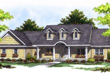 House Design - Country Exterior - Front Elevation Plan #70-197