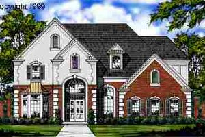 European Exterior - Front Elevation Plan #40-102