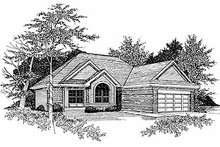 House Plan Design - Traditional Exterior - Front Elevation Plan #70-154