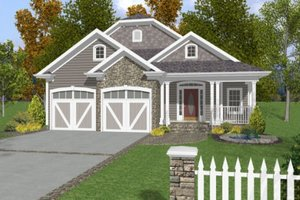 Country Exterior - Front Elevation Plan #56-245