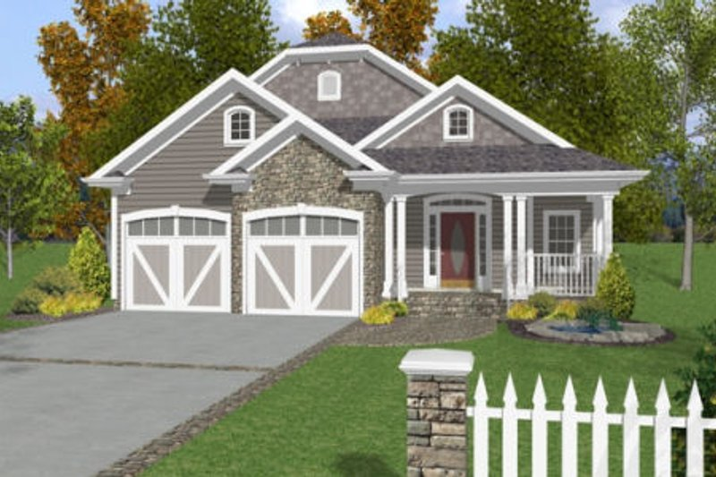 House Plan Design - Country Exterior - Front Elevation Plan #56-245