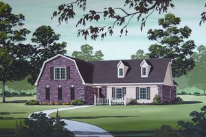 Country Exterior - Front Elevation Plan #45-320