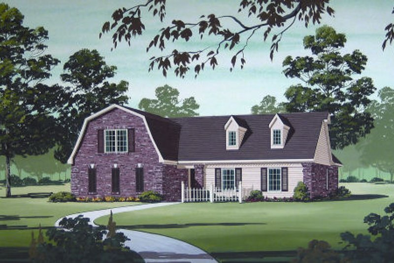 Architectural House Design - Country Exterior - Front Elevation Plan #45-320