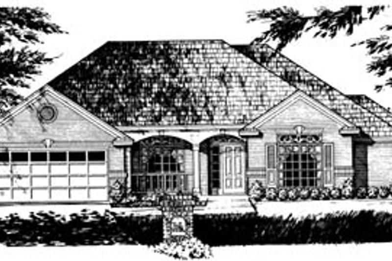 Southern Exterior - Front Elevation Plan #40-248 - Houseplans.com