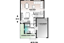 Country Floor Plan - Main Floor Plan Plan #23-2119