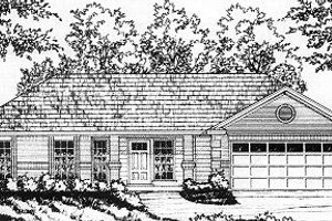 House Design - Traditional Exterior - Front Elevation Plan #40-374