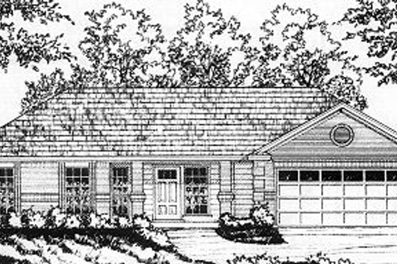 Traditional Exterior - Front Elevation Plan #40-374