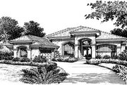 European Style House Plan - 3 Beds 3 Baths 2503 Sq/Ft Plan #417-275 Exterior - Front Elevation