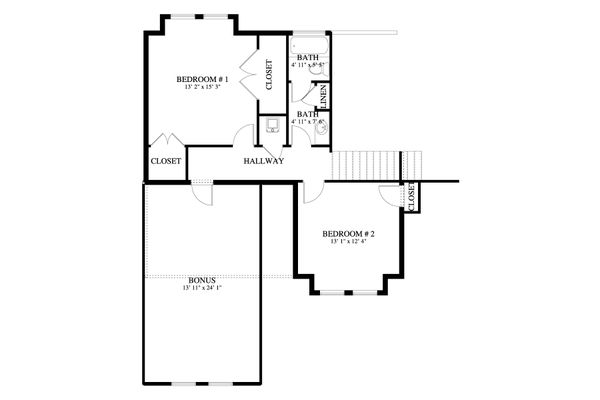 Dream House Plan - Traditional Floor Plan - Upper Floor Plan #1060-62