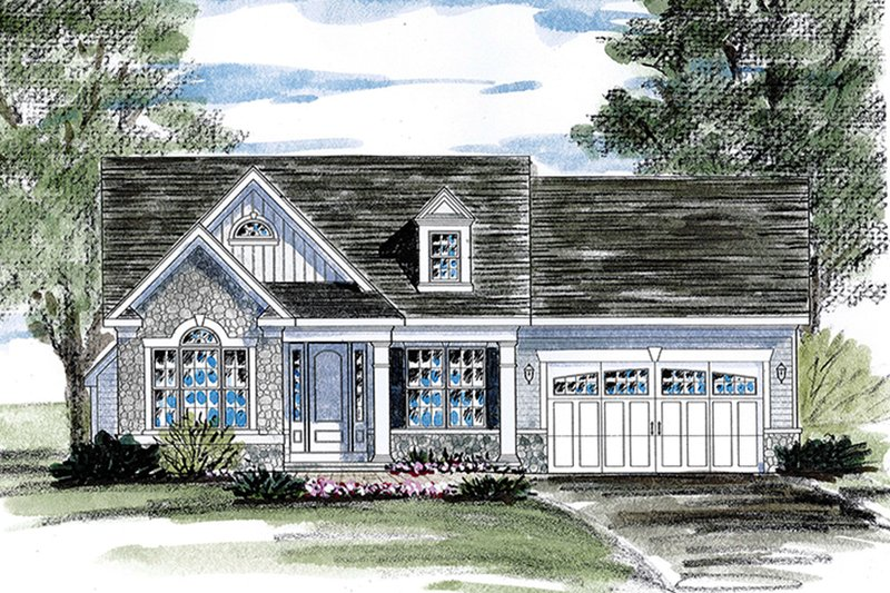 Architectural House Design - Ranch Exterior - Front Elevation Plan #316-284