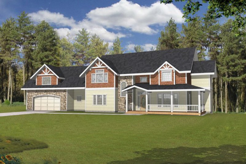House Plan Design - Traditional Exterior - Front Elevation Plan #117-830