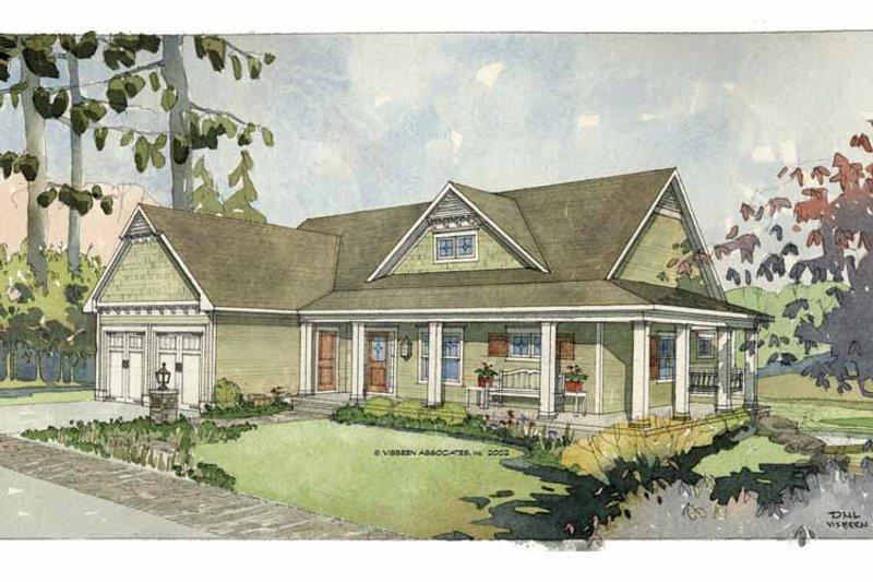 Craftsman Exterior - Front Elevation Plan #928-78 - Houseplans.com