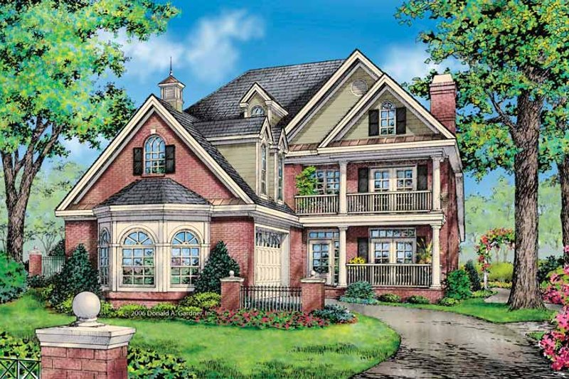 Colonial Exterior - Front Elevation Plan #929-852