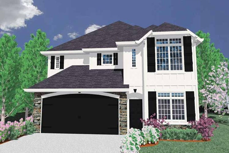 Traditional Exterior - Front Elevation Plan #509-293 - Houseplans.com