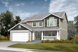 Architectural House Design - Craftsman Exterior - Front Elevation Plan #569-17