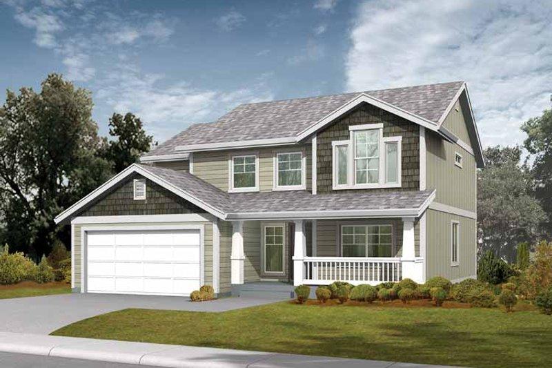 Architectural House Design - Craftsman Exterior - Front Elevation Plan #569-17