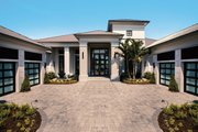 Contemporary Style House Plan - 5 Beds 5.5 Baths 6136 Sq/Ft Plan #930-475 Exterior - Front Elevation