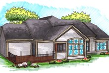 Dream House Plan - Ranch Exterior - Rear Elevation Plan #70-1039