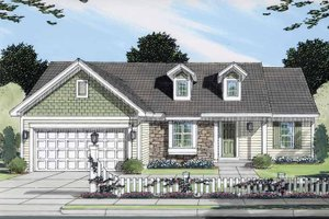 Dream House Plan - Ranch Exterior - Front Elevation Plan #46-768