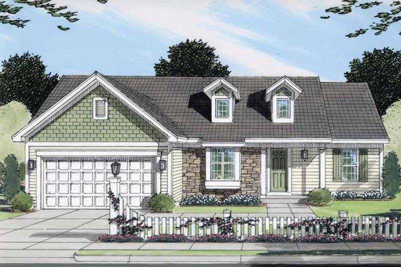 Ranch Exterior - Front Elevation Plan #46-768
