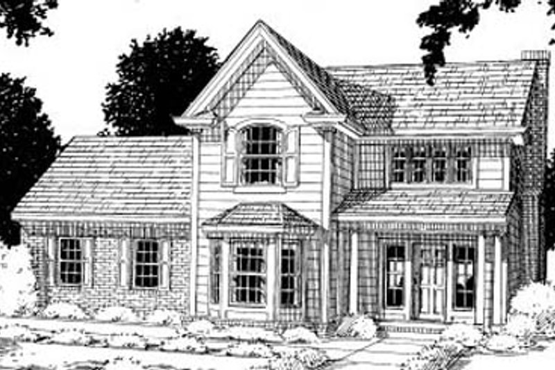 Traditional Exterior - Front Elevation Plan #20-301 - Houseplans.com