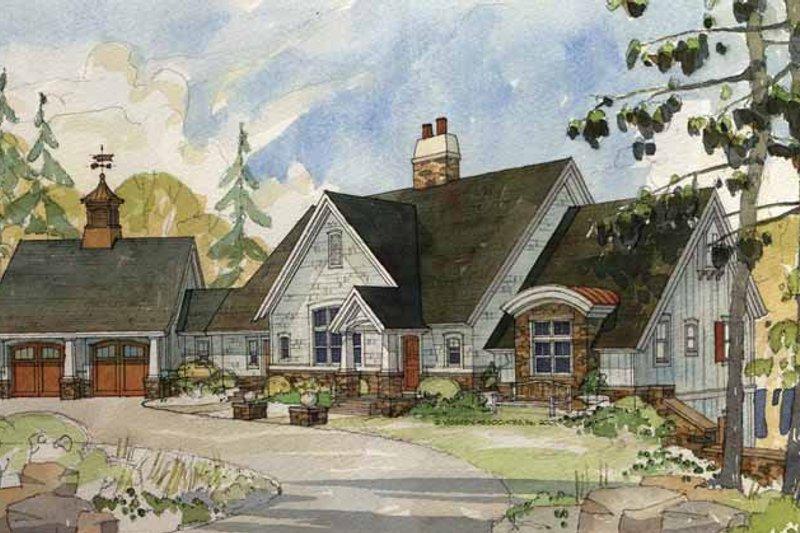 House Plan Design - European Exterior - Front Elevation Plan #928-20