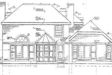 House Plan Design - European Exterior - Rear Elevation Plan #3-191
