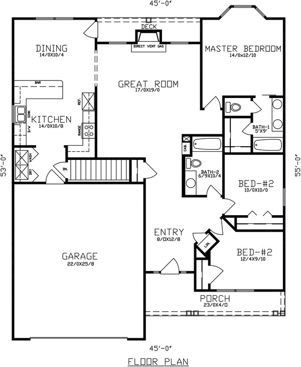 Dream House Plan - Traditional Floor Plan - Main Floor Plan #405-329