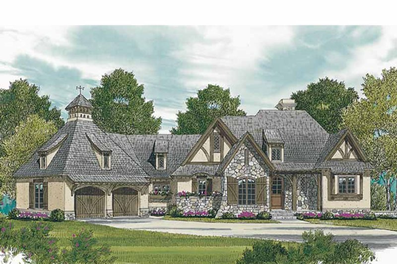 European Exterior - Front Elevation Plan #453-607 - Houseplans.com