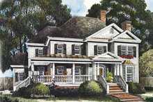 Country Exterior - Front Elevation Plan #429-437
