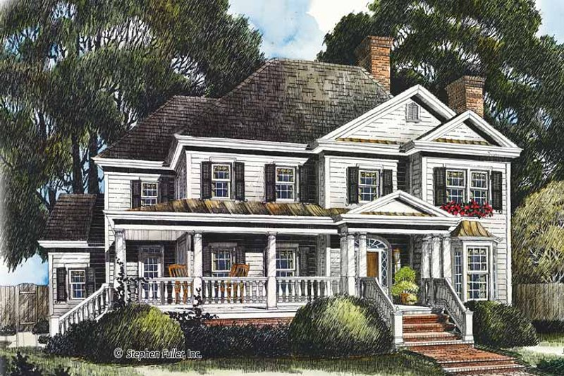Country Exterior - Front Elevation Plan #429-437 - Houseplans.com