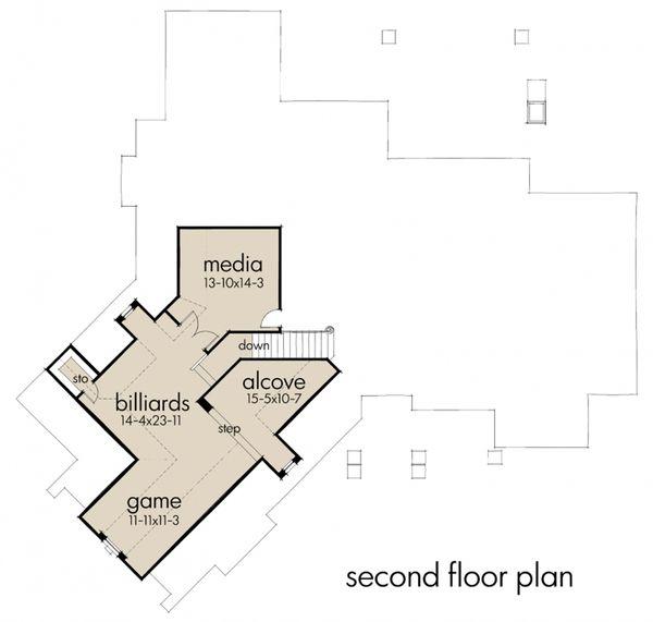 Craftsman Floor Plan - Upper Floor Plan Plan #120-172