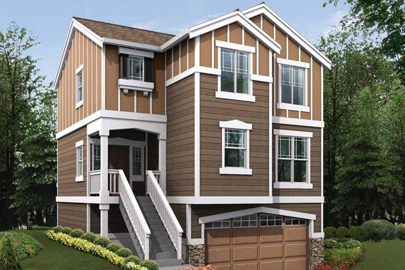 Craftsman Exterior - Front Elevation Plan #132-287 - Houseplans.com