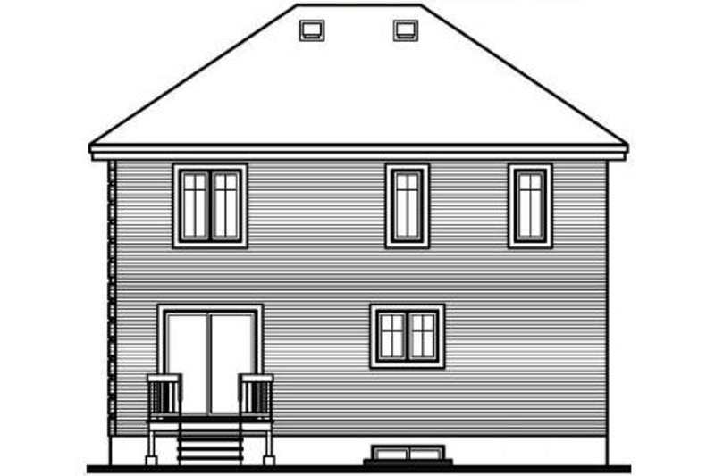 European Exterior - Rear Elevation Plan #23-506 - Houseplans.com