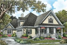 Country Exterior - Front Elevation Plan #929-786
