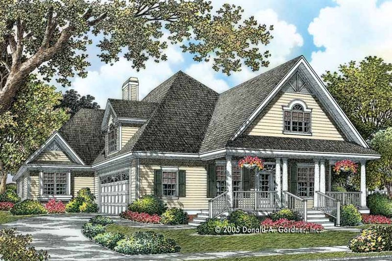 Country Exterior - Front Elevation Plan #929-786 - Houseplans.com