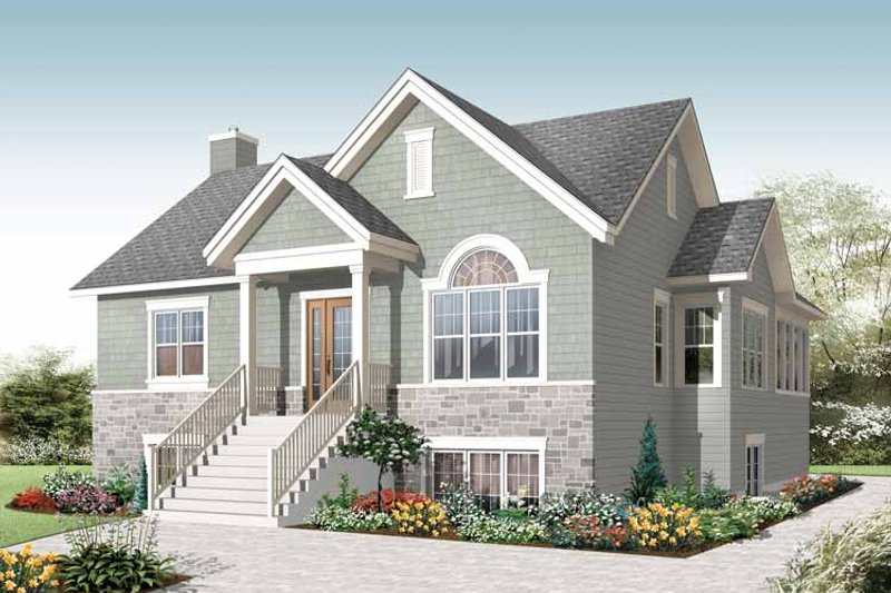 Colonial Exterior - Front Elevation Plan #23-2521
