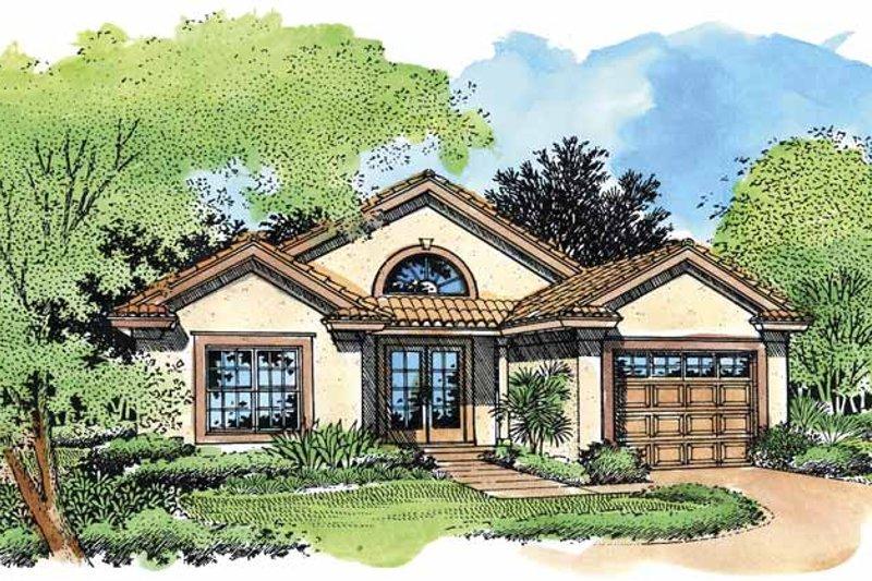 House Design - Mediterranean Exterior - Front Elevation Plan #320-557