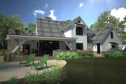 Country Style House Plan - 4 Beds 4.5 Baths 4839 Sq/Ft Plan #120-250 Exterior - Rear Elevation