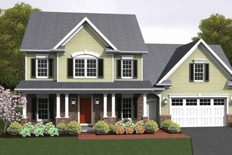 Colonial Exterior - Front Elevation Plan #1010-14 - Houseplans.com